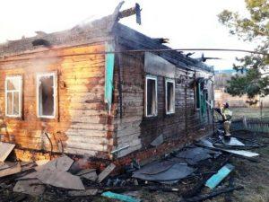 Женщина погибла в горящем доме в Починковском районе