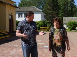 Губернатор посетил Краснинский район