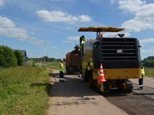 «Смоленскавтодор» начал ремонт Старой Смоленской дороги