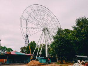 Испытания на безопасность прошли на новом колесе обозрения в Смоленске