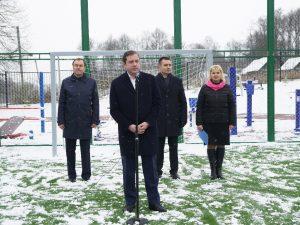 В Никольской средней школе Гагаринского района построена новая спортплощадка