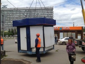В Смоленске уберут незаконную конструкцию с самовольно занятой земли