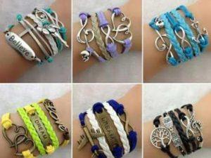 Модные кожаные браслеты своими руками