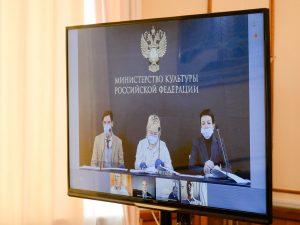 Алексей Островский принял участие в совещании с заместителем Министра культуры Аллой Маниловой