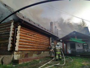 Жилой дом горел в Рудне на улице Глинки