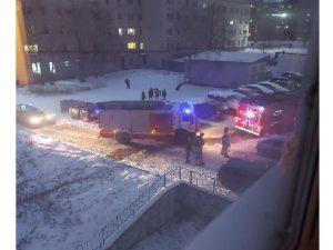 Смоляне переполошились из-за скопления пожарных машин у дома
