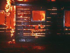 В Хиславичском районе горела пристройка к жилому дому