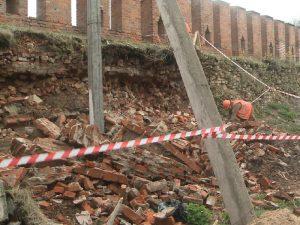 Замминистра высказался об обвале Смоленской крепостной стены