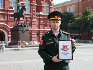 Победитель «Диктанта Победы – 2021» из Росгвардии награжден почетным дипломом
