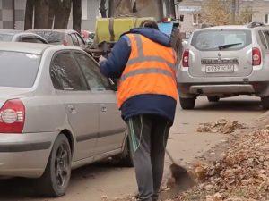 Мэрия Смоленска объяснила, что мешает уборке листвы на улицах
